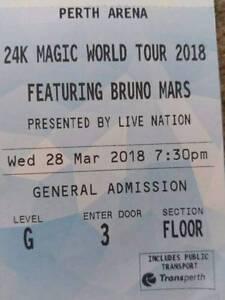 Bruno Mars Perth Tickets GA South Lake Cockburn Area Preview
