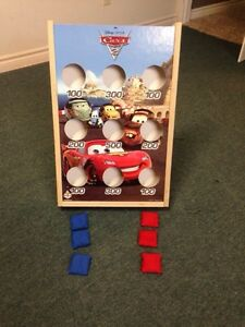CARS wooden bean bag toss game