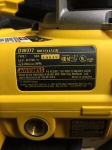 18V Self Leveling Int/Ext Rotary Laser Package Prince George British Columbia image 7
