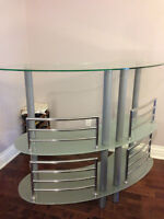 STRUCTUBE CONTACT glass bar table/shelf (perfect and clean)
