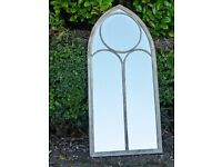 Vintage Church Style Metal Arch Mirror 4211