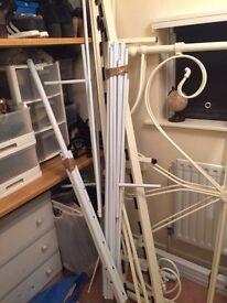 Free disassembled bed frames scrap metal