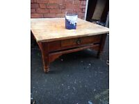 Solid coffee table £20