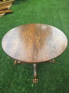 Solid Oak Antique Claw Foot Dining Table