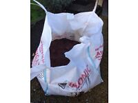 Half bag of builders merchant dust