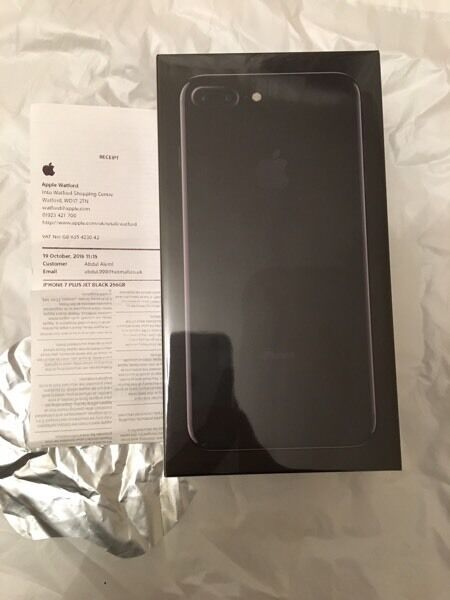 iPHONE 7 PLUS 256gb JET BLACK BRAND NEW UNLOCKED SEALED from Apple Store with proof of purchase