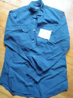 New men's blue casual shirt size small or a 36