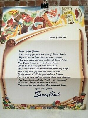 Elf From Santa Claus (Vintage 1950's Letter From Santa to Kids Elf Presents Santa Claus)