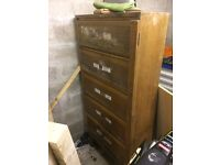 Antique medicine/filing cabinet