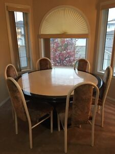 Marble table with chairs Edmonton Edmonton Area image 1