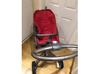 Stokke xplory v2 in red.