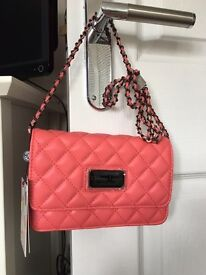 Christian Lacroix quilted evening bag coral