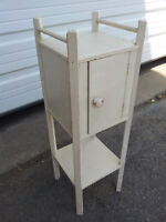 Vintage Shabby Chic Small Wood Primitive Cabinet