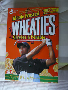 Wheaties collectible Tiger Woods cereal boxes