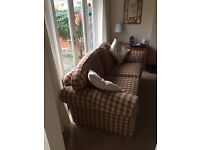 Red and Yellow Tartan Sofa 2/3 seater