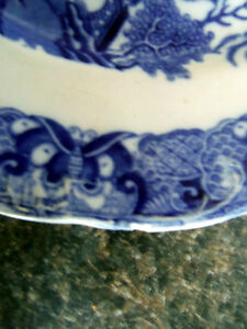VINTAGE BLUE WILLOW PLATE ENGLAND/ London Ontario image 3