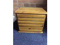 6 drawer pine box