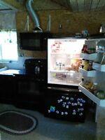 fridge,stove,microwave,dishwasher set
