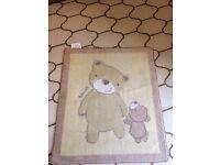 Children's bear rug for nursery