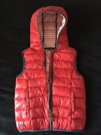 Girls Red Body Warmer by Next age 9 years