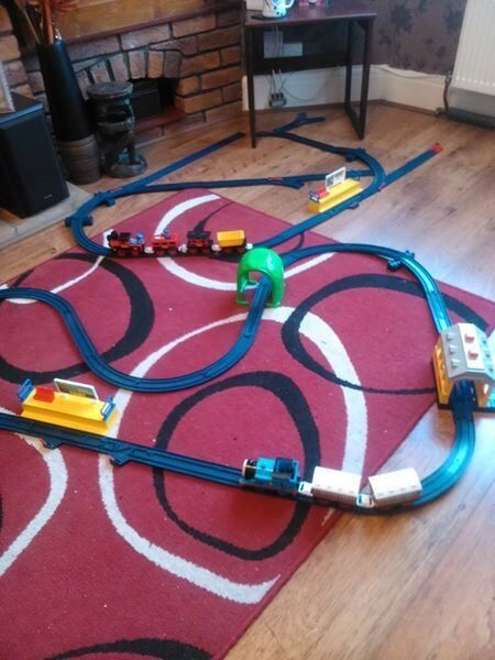 Tomy train and track including Thomas Tank Engine