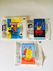 VINTAGE 1980's O-PEE-CHEE HOCKEY WAX PACK WRAPPERS X3 London Ontario image 1