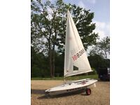 Laser Sailing Dinghy with Trolley and Trailer