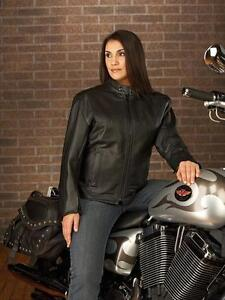 Ladies Classic Leather Motorcycle Jacket - Never worn