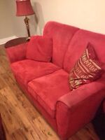 Pull out SofaBed with LoveSeat for sale!! Red!!