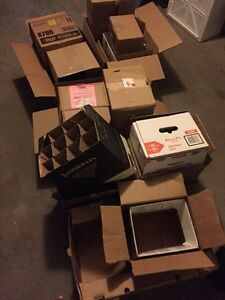 Free boxes for moving, mainly medium to small sized.