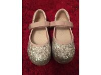 Next pink sparkle party shoes size 8