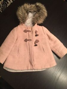 Toddler girls Zara Winter Peacoat size 18-24 St. John's Newfoundland image 1