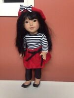 "Like new newberry doll Lily(18"")!!"