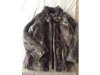 Women's Vera moda fur coat size large