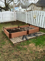 Garden bed and organic soil