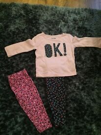 9-12 months gap leggings and top