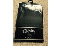 Wexford Black Table Cloth 132 x 178cm - New