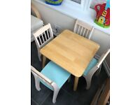 John Crane Wooden Table and 4 Chairs