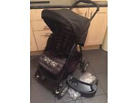 Graco pushchair with raincover