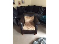 Mint condition leather chair