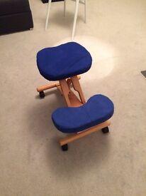 Kneeling stool computer desk seat
