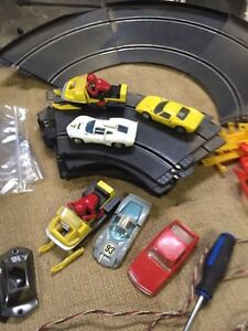 Strombecker and eldon slot cars and track