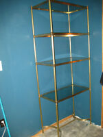 4 tier brass and glass display unit