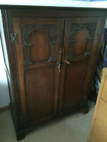 beautiful antique petite wardrobe for sale