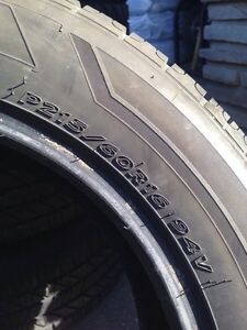 4 Hankook Optimo Winter Tires - 70% Tread Left-  P215/60R16 94V Kitchener / Waterloo Kitchener Area image 4