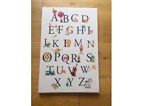 Alphabet canvas picture