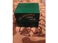 1001 recipes for wok or pan collection of recipe cards in presentation box