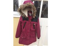 Girls aged 8/9 years winter coat