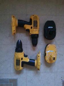 Battery powered dewalt drills
