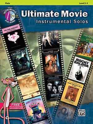 Movie Instrumental Solos Flute - ULTIMATE MOVIE INSTRUMENTAL SOLOS-FLUTE-MUSIC BOOK/CD LVL 2-3 BRAND NEW ON SALE